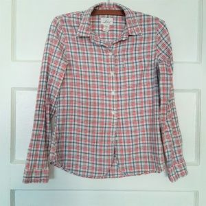 Vintage Levis Red and Blue Plaid Button Down Shirt